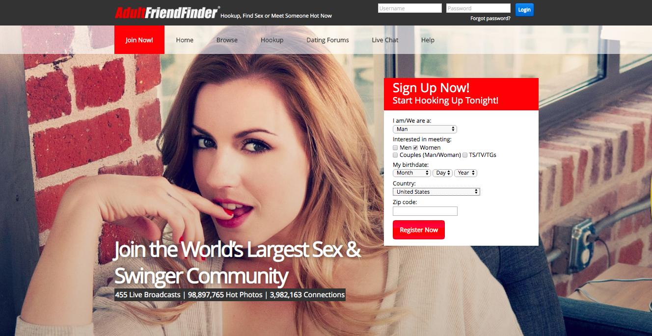 main page AdultFriendFinder