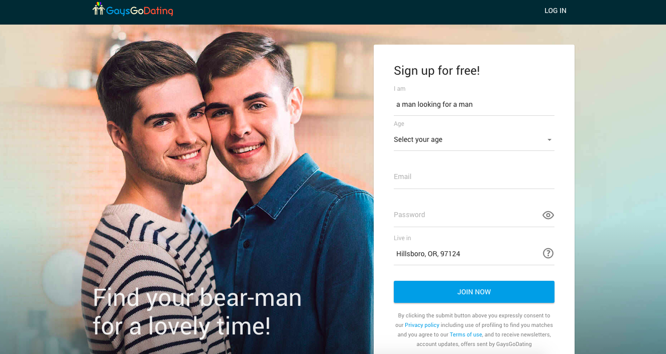 main page GaysGoDating
