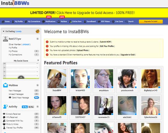 women profiles InstaBBWS