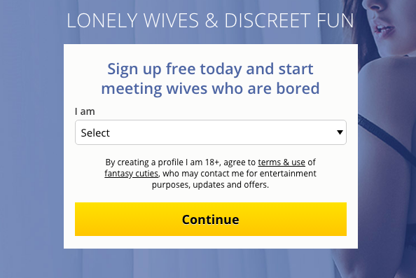 create account LonelyWifeHookup